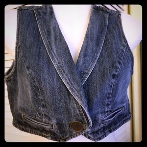 100% cotton cute and comfy jean vest